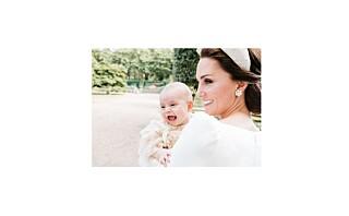 Hertuginne Kate hylles for de offisielle dåpsbildene av prins Louis