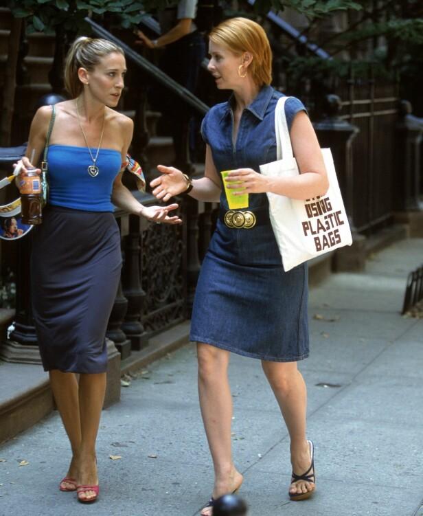 Carrie og Miranda på farten i New York. Foto: NTB Scanpix