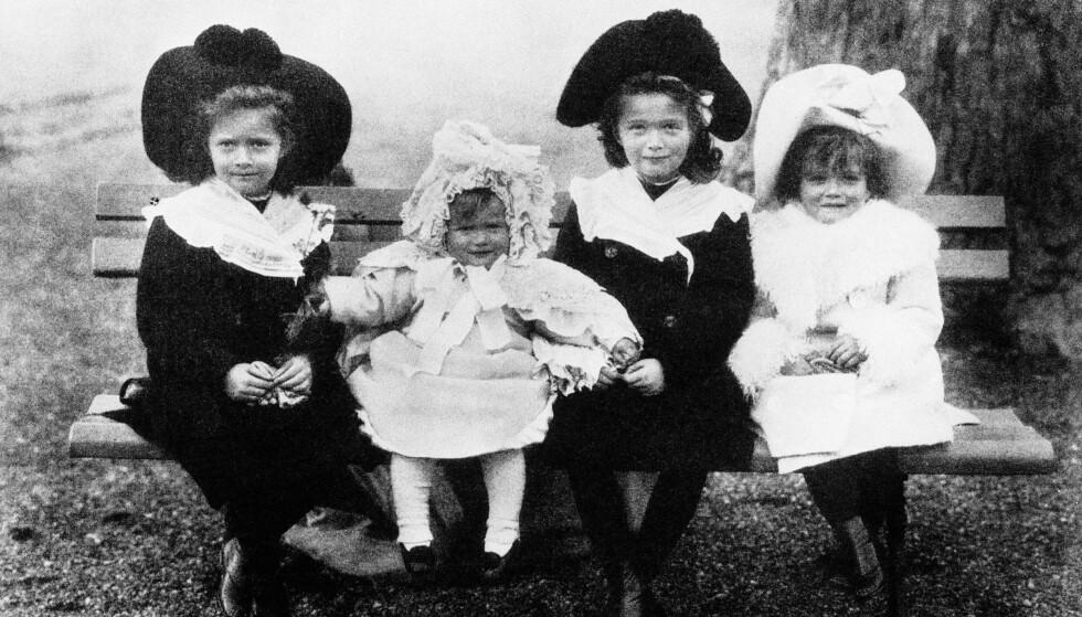 FIRE DØTRE: Tsar Nikolaj og tsarina Aleksandra fikk døtrene Olga, Tatjana, Maria og Anastasia sammen. FOTO: NTB Scanpix