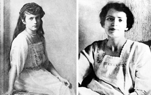 ANASTASIA: Etter attentatet på tsarfamilien er det flere som har hevdet at de har vært storhertuginne Anastasia (t.v.) - blant dem var den polske kvinnen Franziska Schanzkowska, bedre kjent under det fiktive navnet Anna Anderson (t.h.) Dette ble motbevist i 1991 da DNA-tester viste at levninger funnet i Ural-fjellene faktisk var av Anastasia. FOTO: NTB Scanpix