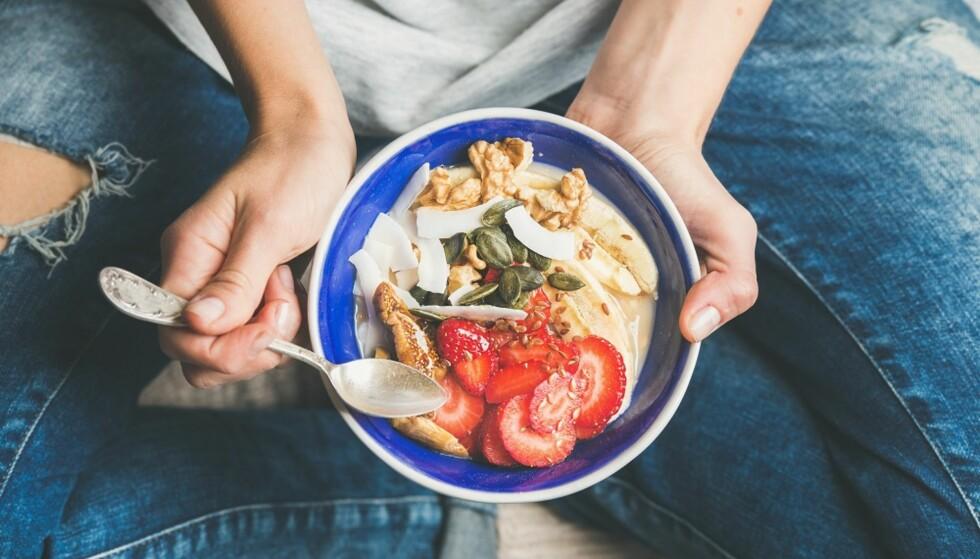 <strong>MAT:</strong> Spis næringsrik mat som er bra for kroppen din. FOTO: Shutterstock