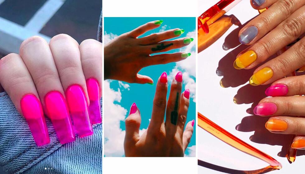 NEGLER: Pasteller er en hot farge å ha på neglene denne sommeren, og vi ser mer og mer av det på sosiale medier. FOTO: Instagram
