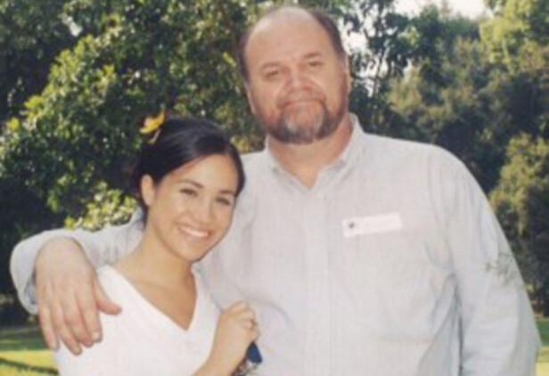 FAR OG DATTER: Den gang da - da forholdet mellom Meghan og pappa Thomas Markle var godt. FOTO: NTB Scanpix