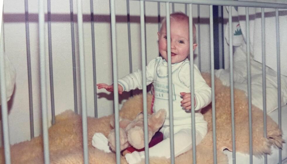 LILLE LINE: Hun var bare ni måneder da legene fant ut at hun hadde en hjertesykdom. Dette bildet er lånt fra bloggen Linedansen.dk. FOTO: Privat