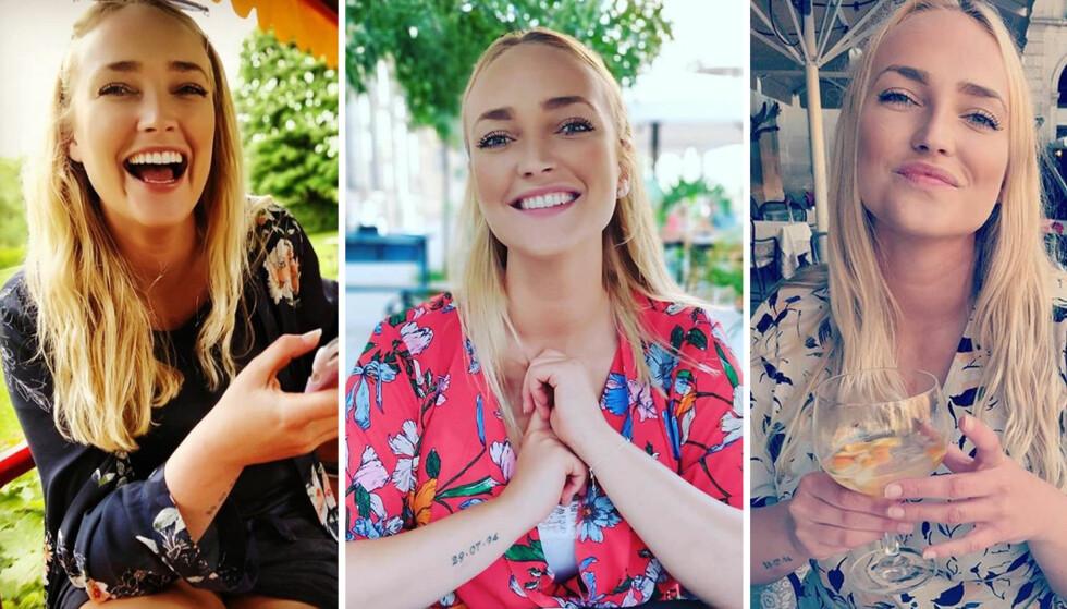 ET STORT SMIL: Line elsker det gode liv, og å arrangere fester for venner og familie. Til KK sier hun at hun har det aller best når hun er sammen med de hun har kjær. Bildene er lånt fra bloggen Linedansen.dk. FOTO: Privat