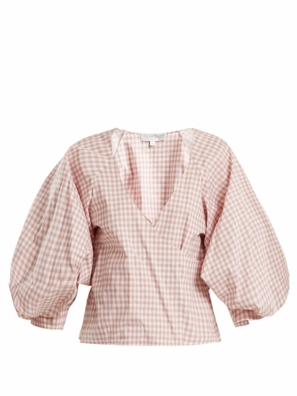 <strong>Topp fra Caroline Constas |1940,-| https:</strong>//www.matchesfashion.com/intl/products/Caroline-Constas-Josie-gingham-print-puff-sleeved-cotton-top-1190884