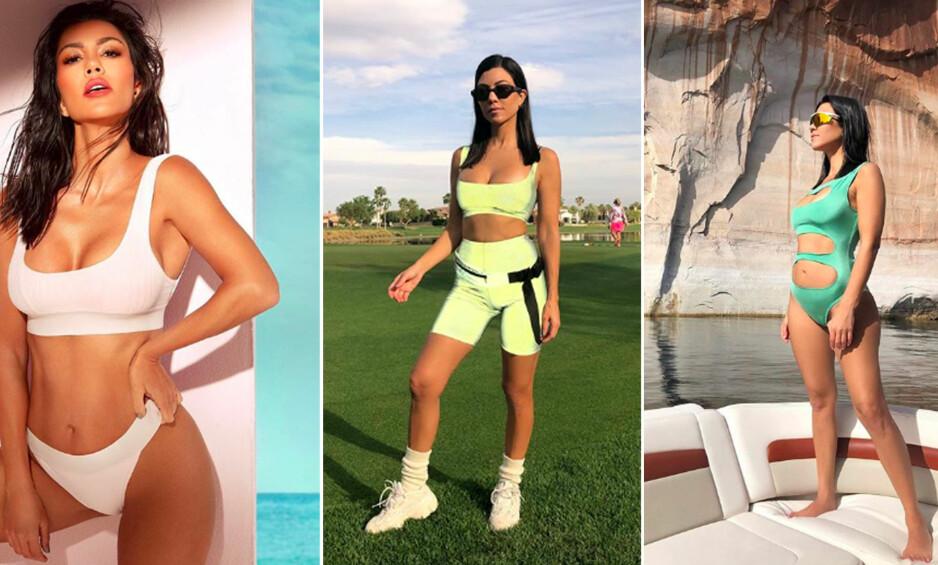 KOURTNEY KARDASHIAN: Det er ingen hemmelighet at Kardashian-søstrene liker å holde seg i form, men hvordan? Få treningsprogrammet til eldste søster, Kourtney Kardashian (39)! FOTO: Instagram/Kourtney Kardashian