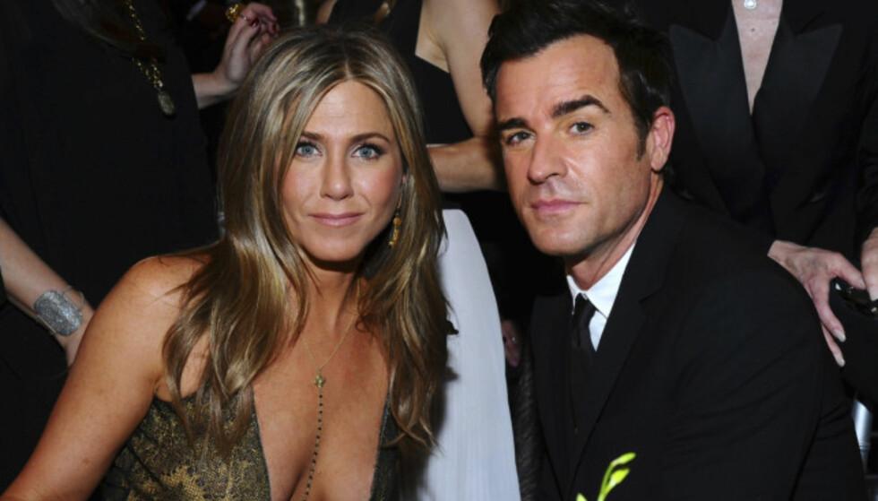 <strong>BRUDD:</strong> 15. februar 2018 bekreftet Jennifer Aniston og ektemannen Justin Theroux at de to har gått hvert til sitt etter åtte år som kjærester. Foto: NTB Scanpix