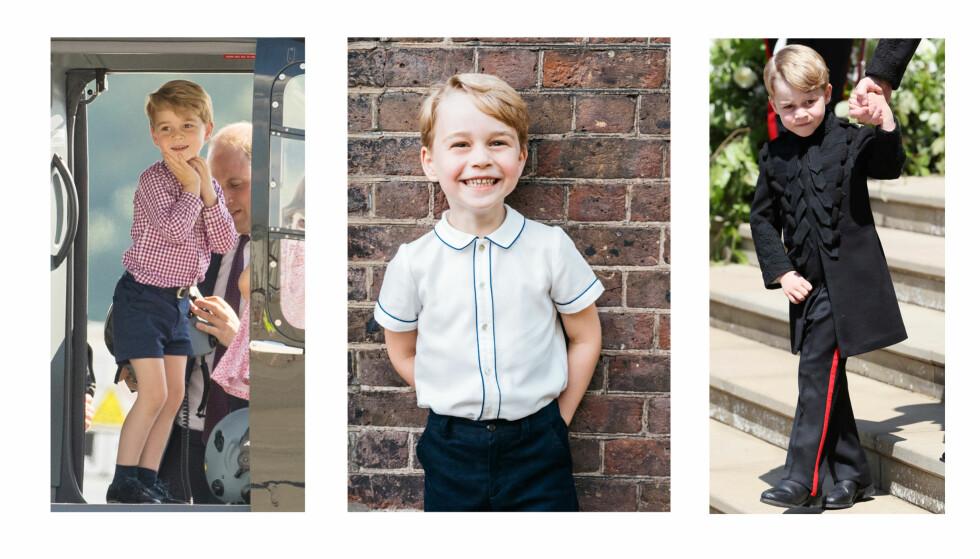 PRINS GEORGE: Den fem år gamle prinsen har allerede gjort seg bemerket i den britiske kongefamilien - mest av alt fordi han er helt ekstremt skjønn! FOTO: NTB Scanpix