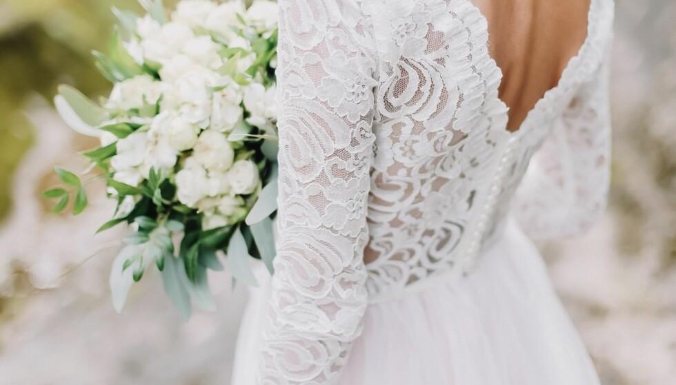 BRUDEKJOLEN: Kjolen er det viktigste valget for mange bruder. FOTO: Shutterstock