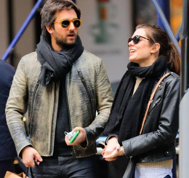 FORELSKET: Charlotte Casiraghi og Dimitri Rassam på kjærlighetsferie i New York i april 2017. FOTO: NTB Scanpix