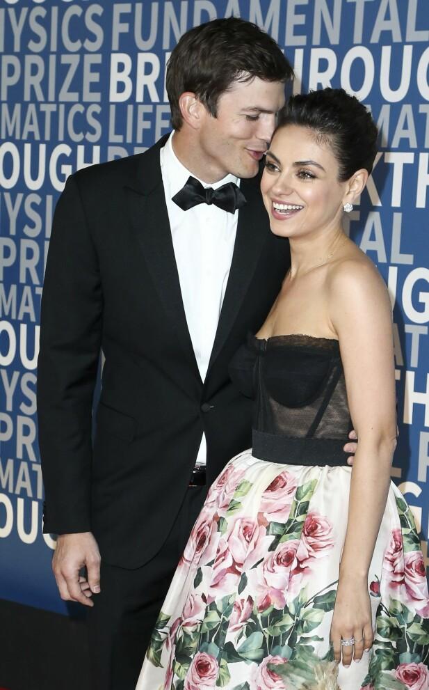 FILMPAR: Mila Kunis er gift med skuespiller Ashton Kutcher og sammen har de to barn. FOTO: NTB Scanpix.