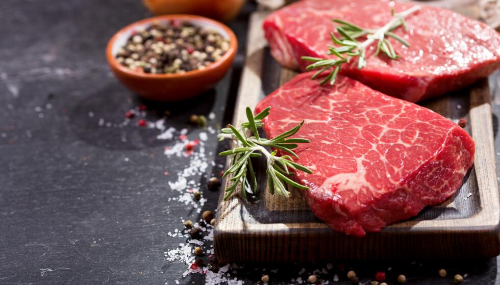 IN VITRO-KJØTT: Vi spiser mye kjøtt, men snart får vi kanskje kjøtt som ikke har krevd at dyret slaktes. FOTO: NTB Scanpix