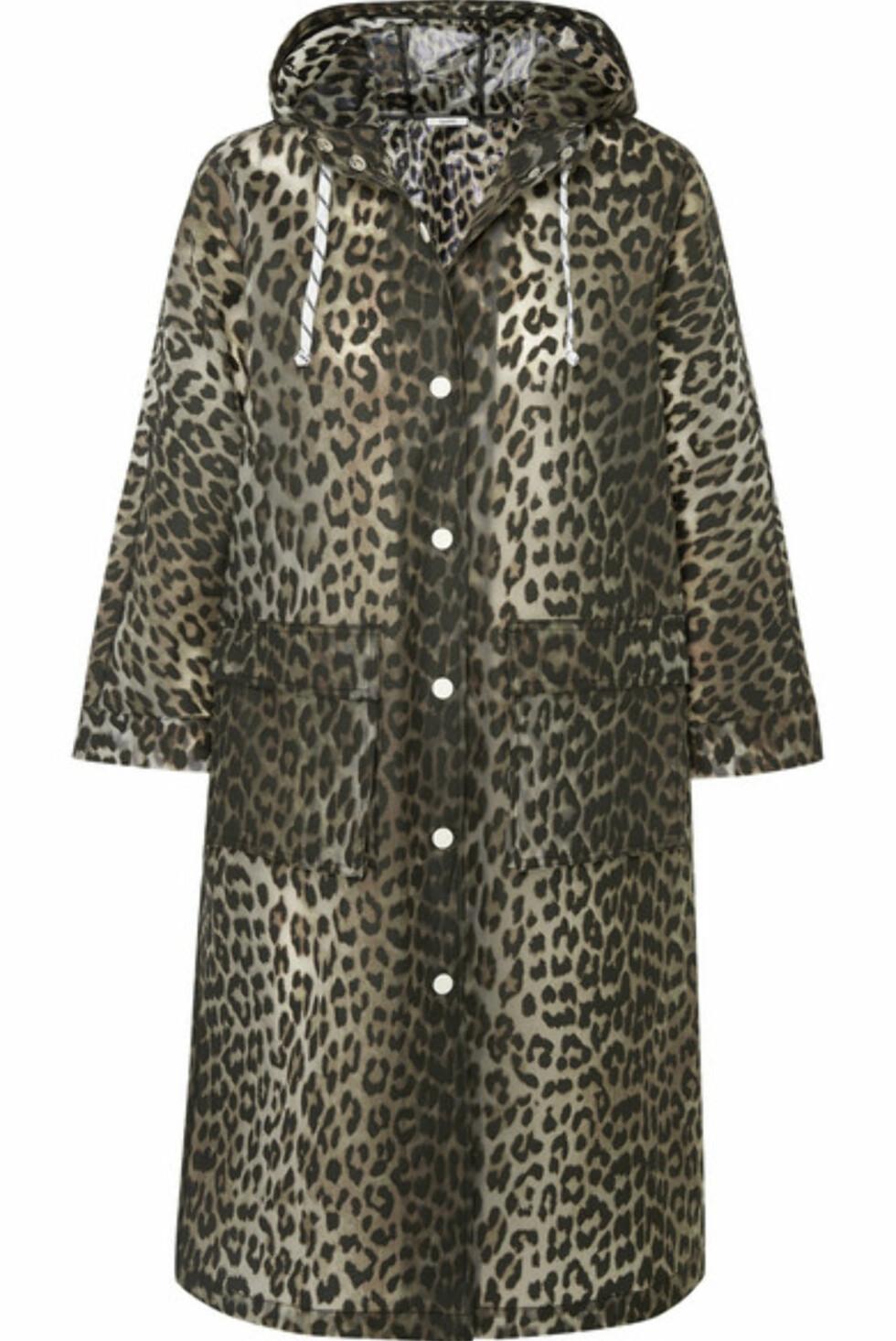 Jakke fra Ganni  2840,-  https://www.net-a-porter.com/no/en/product/1056932/ganni/leopard-print-matte-pu-coat