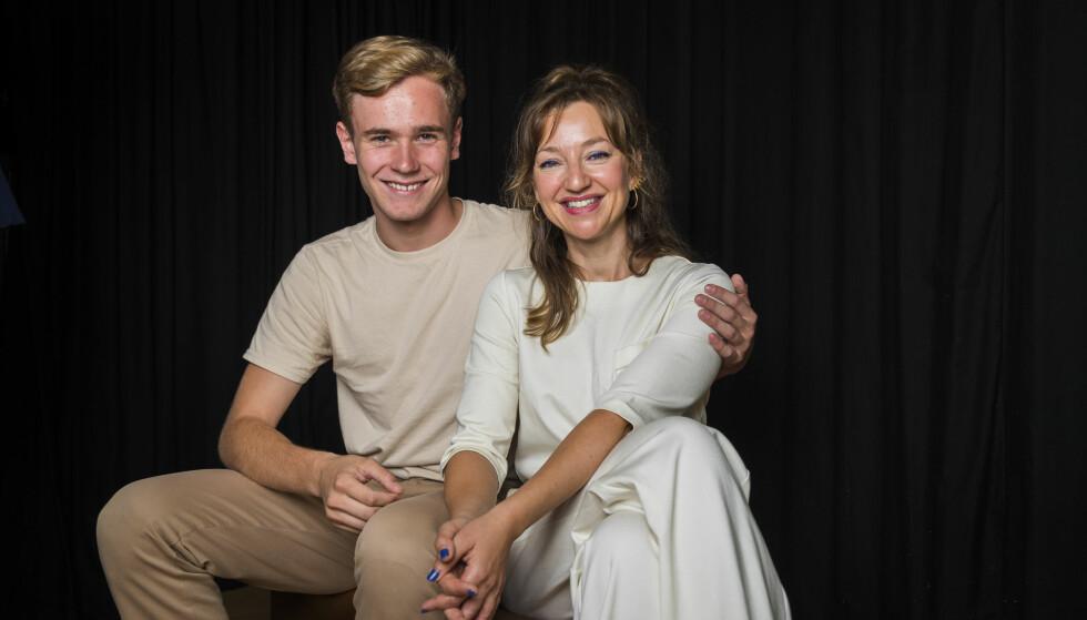 MOTSPILLERE: Andrea sier til KK at hun håper hun kan spille mot Tarjei i fremtiden. Vi møtte skuespillerkollegene under Filmhøsten 2018 i regi av Norsk filminstitutt i midten av august. FOTO: Heiko Junge / NTB scanpix