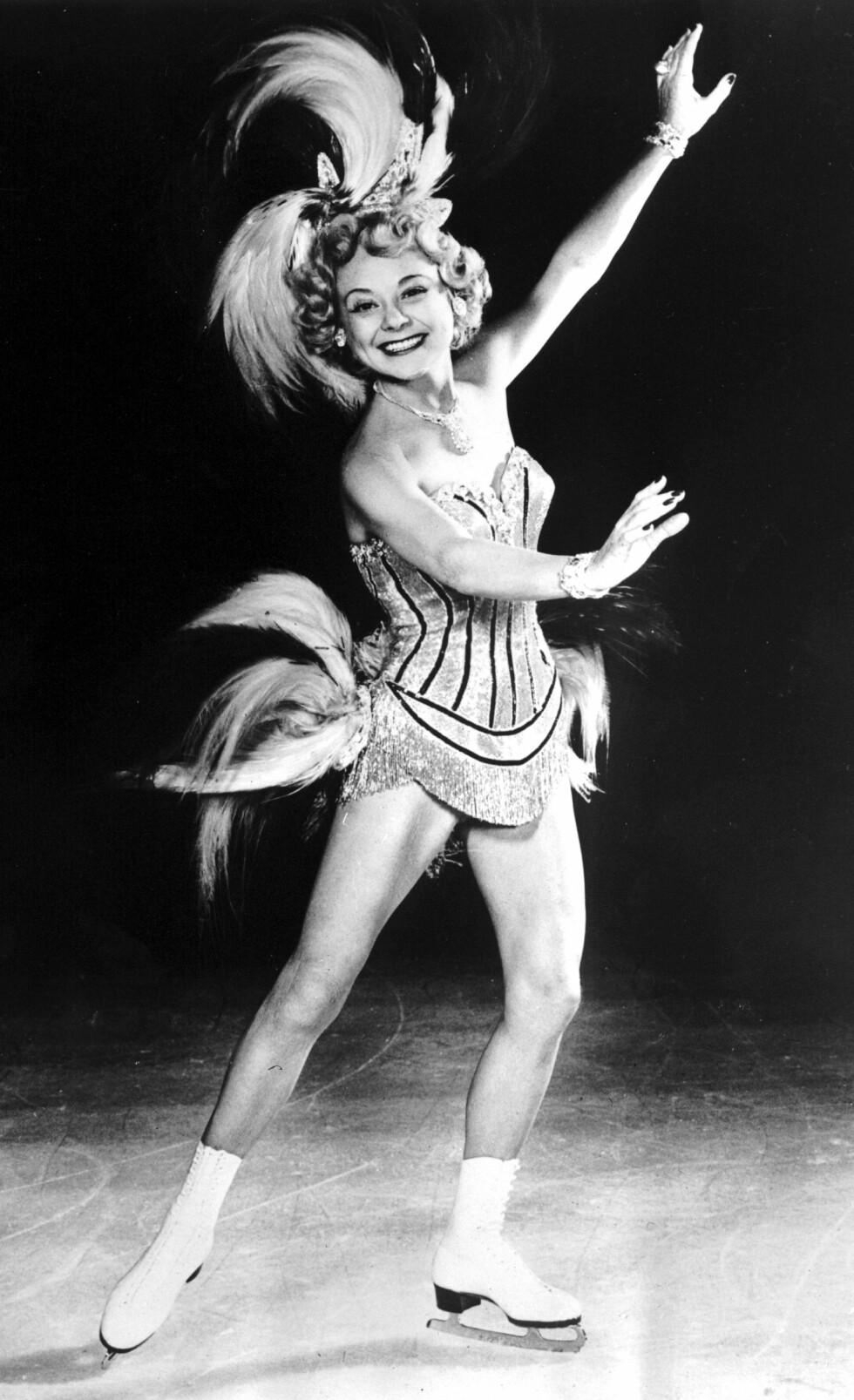 BLE 57 ÅR: Den 12. oktober 1969 døde Sonja Henie om bord på et fly mellom Paris og Oslo. Året i forveien hadde hun fått diagnosen leukemi. Dette bildet er fra 1953. FOTO: NTB Scanpix