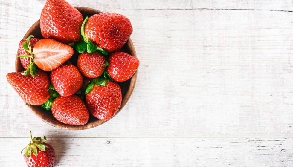 JORDBÆR: Bruk sommerens siste jordbær i disse deilige oppskriftene. FOTO: NTB Scanpix