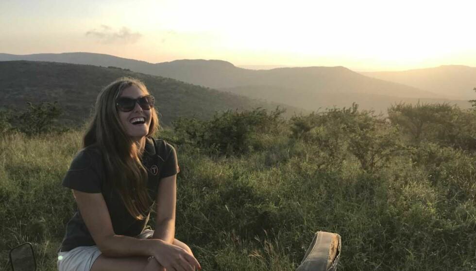 ELSKER FRIHETEN: Men Alexandra forteller at livet i Sør-Afrika også har bydd på utfordringer som hun på forhånd ikke kjente til. FOTO: Privat