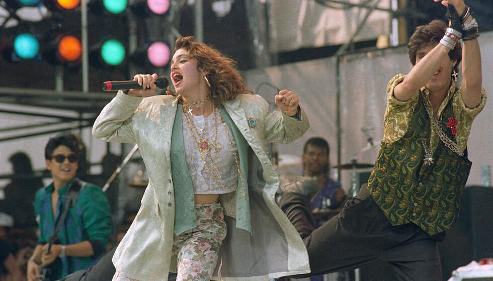 MADONNA: Helt siden 80-tallet har vi danset til sangene til Madonna! Foto: Scanpix