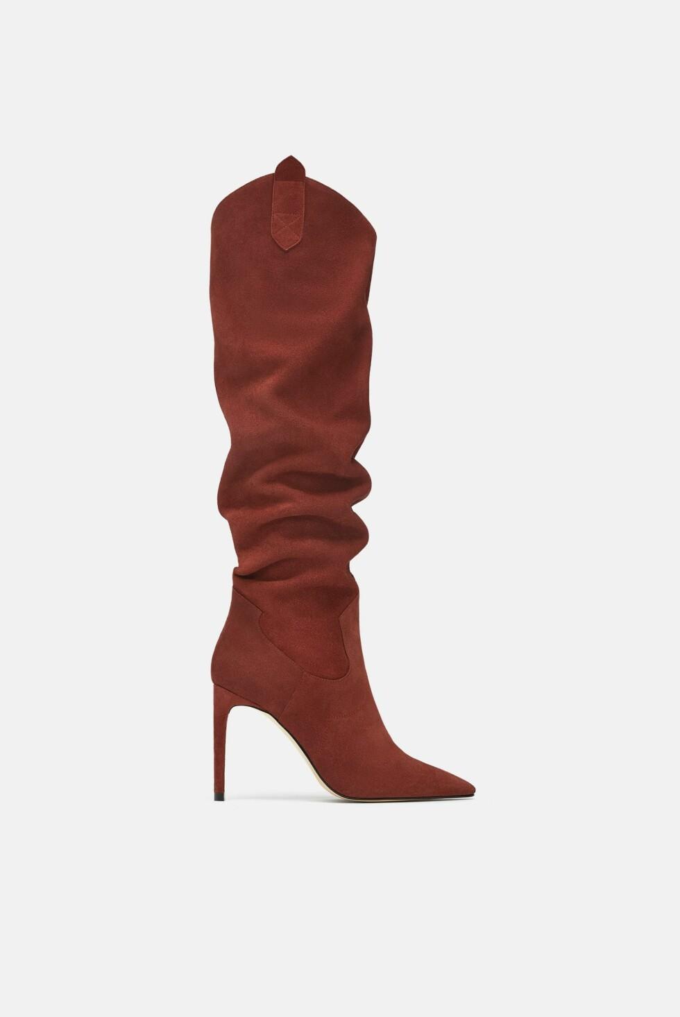 Sko fra Zara |1400,-| https://www.zara.com/no/no/h%C3%B8yh%C3%A6lt-st%C3%B8vel-i-mykt-skinn-p15008301.html?v1=6963527&v2=1074625
