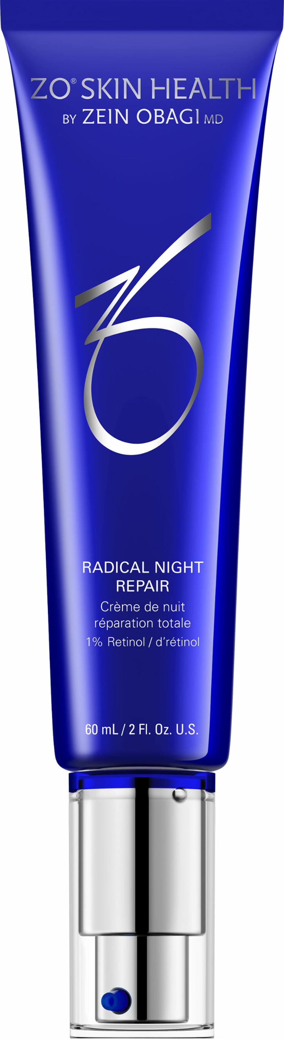 Ganske høy dose med retinol/vitamin A (kr 2335, Zo Skin Health, Radical Night Repair).