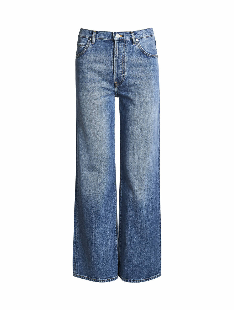Jeans med sleng (kr 600, Never Denim).