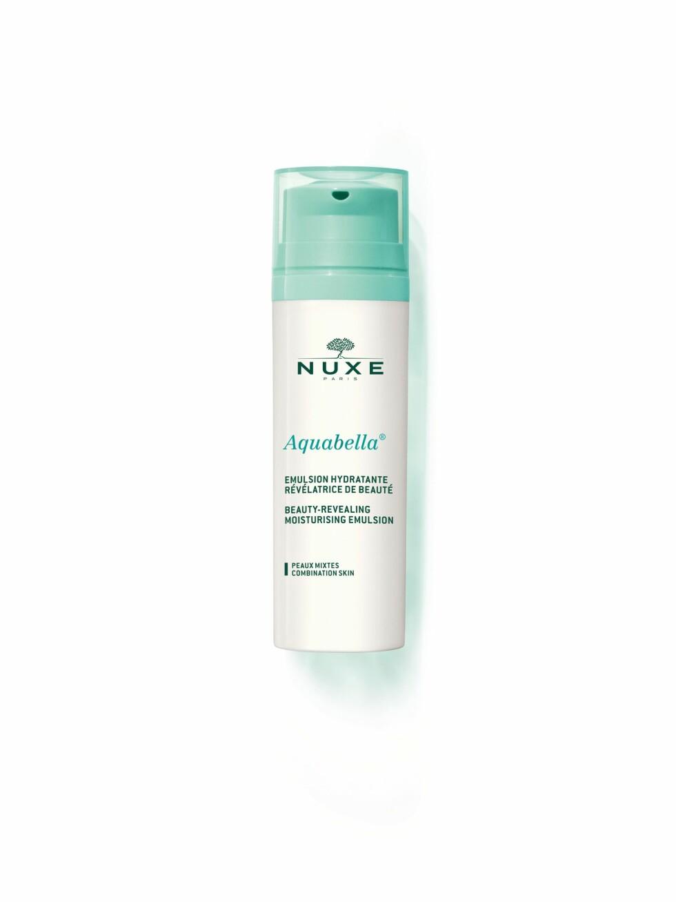 Moisturising Emulsion Ansiktskrem  | Aquabella | https://www.apotek1.no/produkter/nuxe-aquabella-moisturising-emulsion-ansiktskrem-852874p?utm_source=KK.no&utm_medium=Advetorial&utm_campaign=Nuxe%20Aquabella