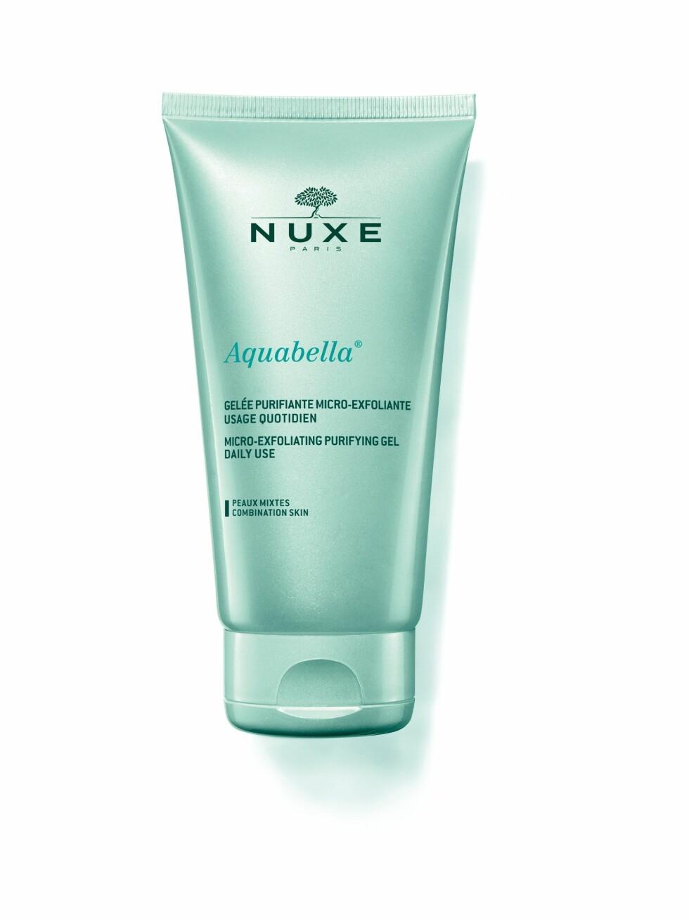 Micro-exfoliating gel  | Aquabella | https://www.apotek1.no/produkter/nuxe-aquabella-micro-exfoliating-gel-810953p?utm_source=KK.no&utm_medium=Advetorial&utm_campaign=Nuxe%20Aquabella