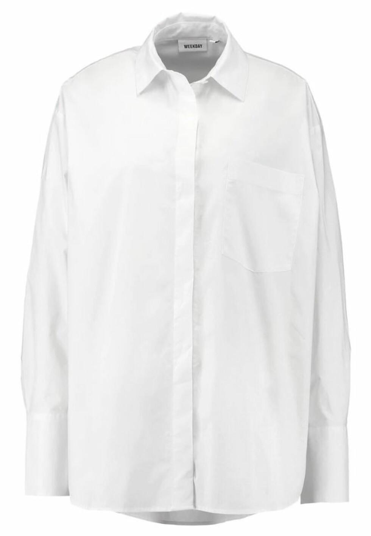 Skjorte fra Weekday |340,-|https://www.zalando.no/weekday-format-skjorte-white-web21e017-a11.html