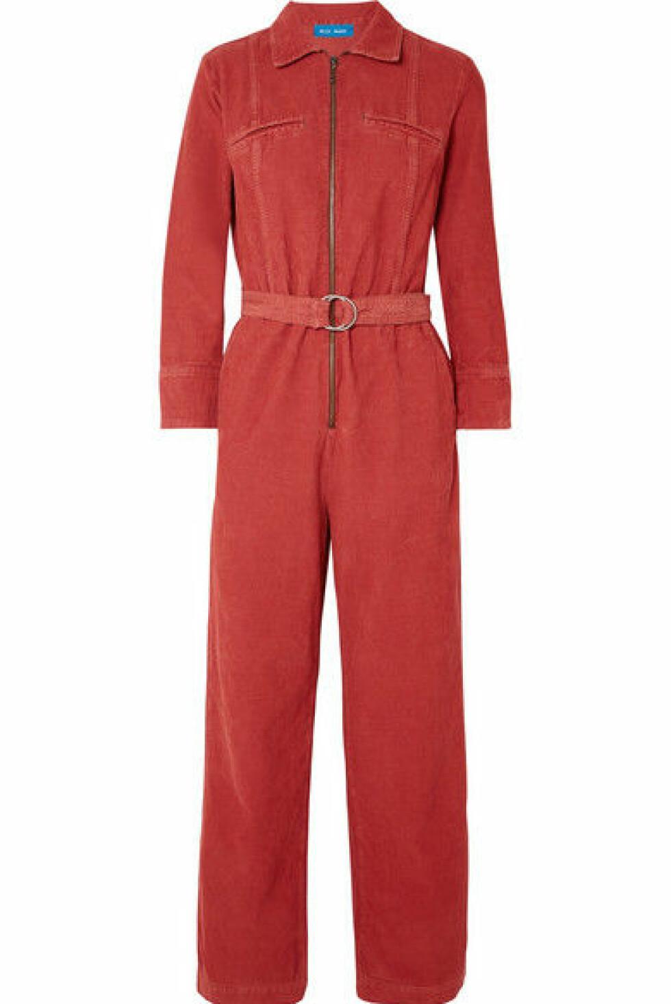 Jumpsuit fra M.I.H Jeans |3380,-| https://www.net-a-porter.com/no/en/product/1055981/m_i_h_jeans/drayson-belted-cotton-corduroy-jumpsuit