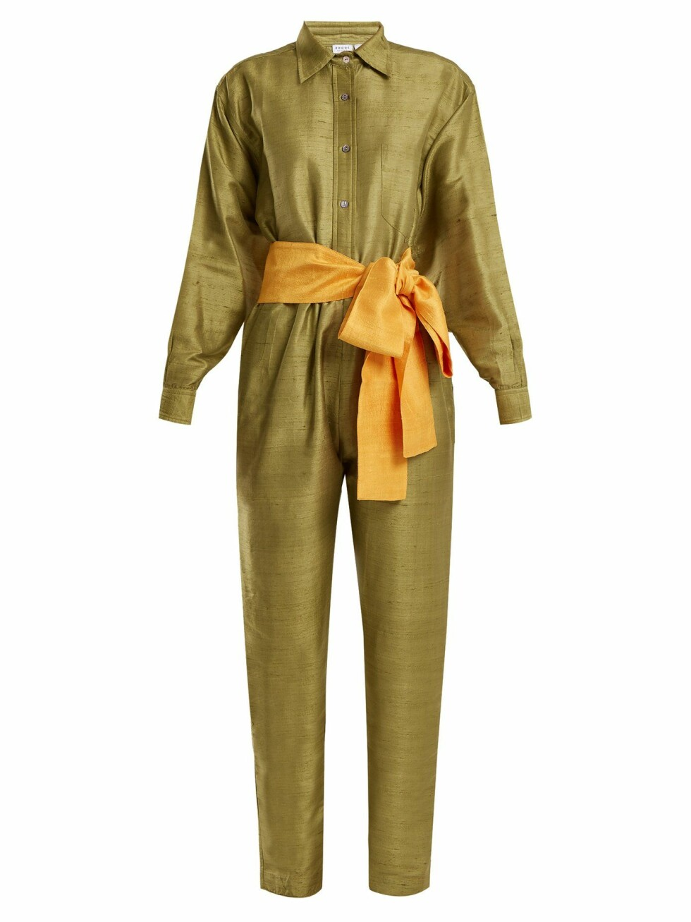 <strong>Jumpsuit fra Rhode Resort |1500,-| https:</strong>//www.matchesfashion.com/intl/products/Rhode-Resort-Tara-silk-jumpsuit-1183029