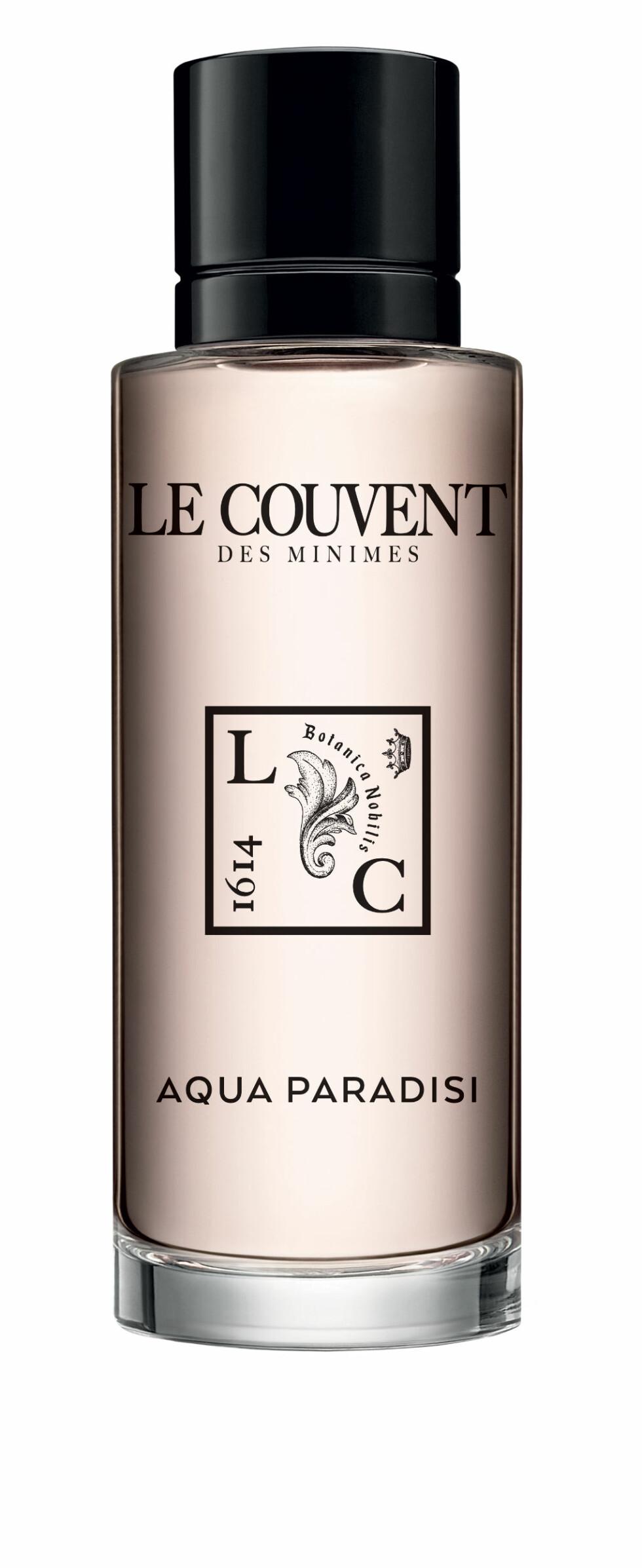 Vakker roseduft laget av parfymør som ikke liker roser (kr 950, Le Couvent des Minimes, Aqua Paradis).