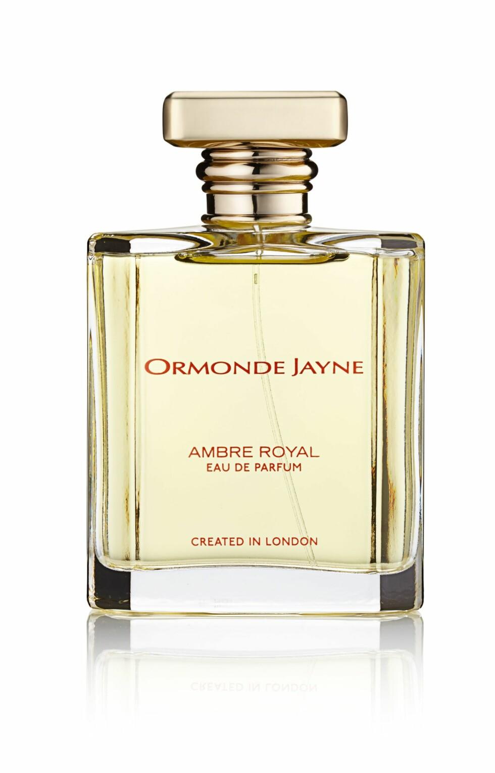 En lett amber som går helt bort fra den klassiske duftillusjonen av en amber (kr 2400, Ormonde Jayne, Ambre Royale).