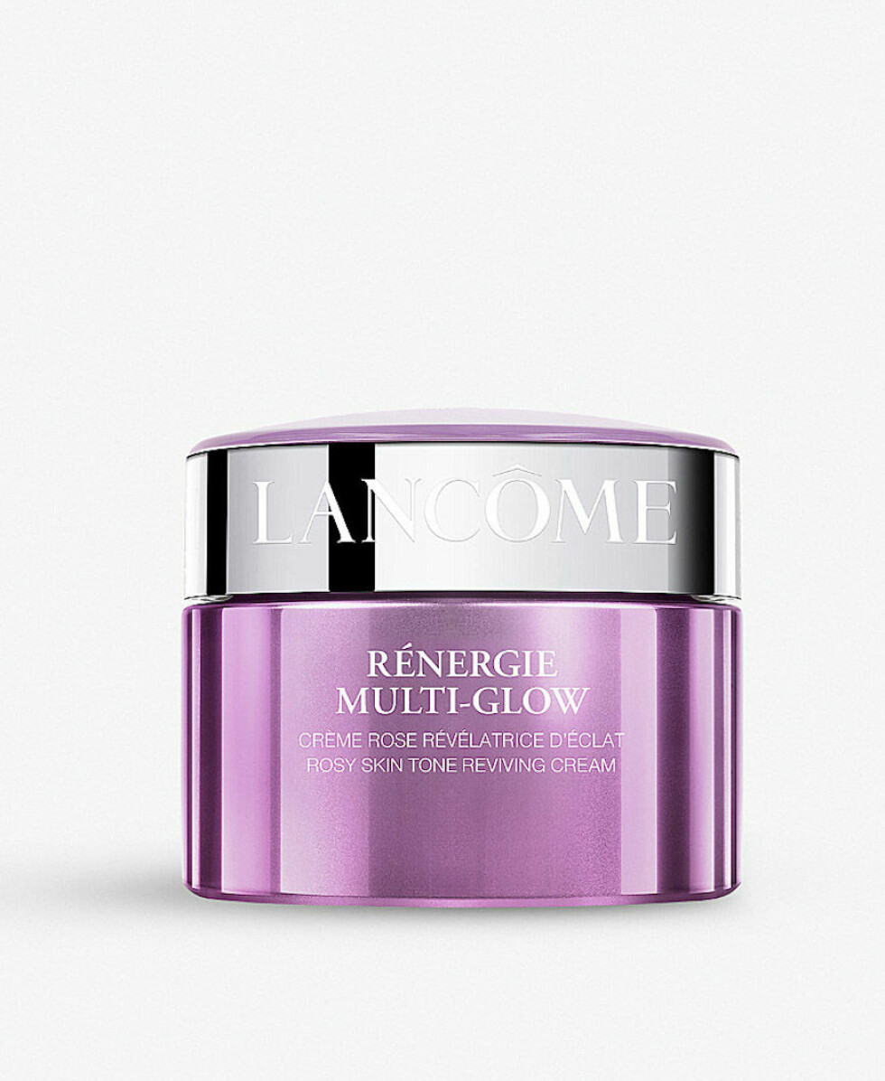 Krem med rosa pigmenter som gir glød til voksen hud (kr 690, Lancôme, Rénergie Multi-Glow).