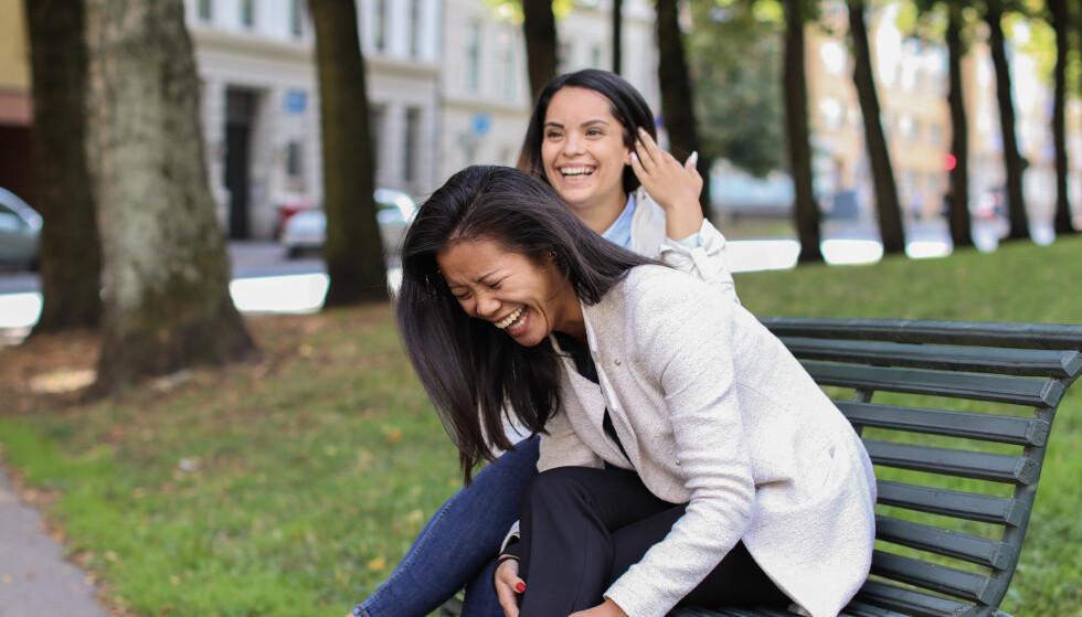 GRÜNDER-DRIVE: Både Isabel og Angela kommer fra familier som har startet opp for seg selv, og de begge har alltid kjent på sin gründer-drive. FOTO: Ida Bergersen