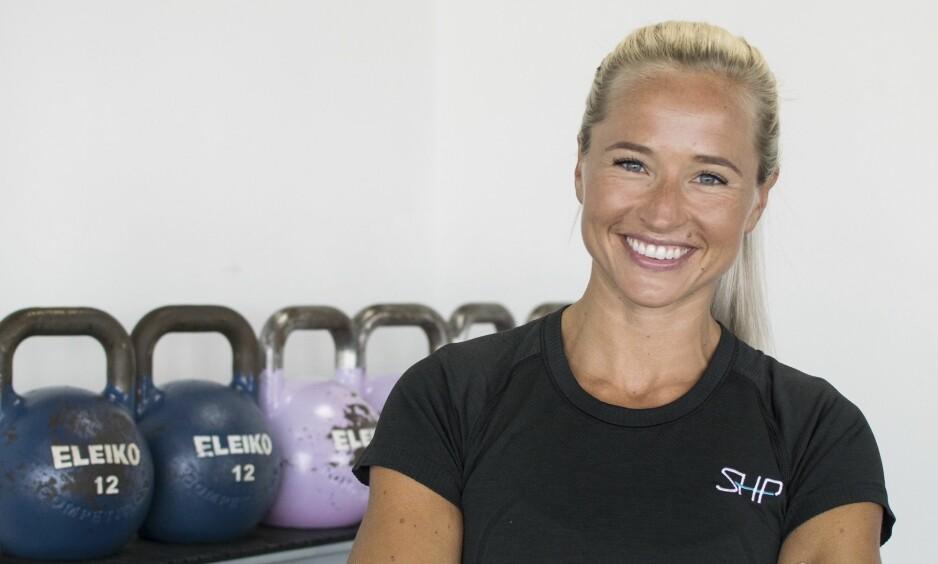 <strong>INGER HOUGHTON:</strong> Vi har stilt Inger Houghton 6 kjappe spørsmål om trening og motivasjon. FOTO: Privat