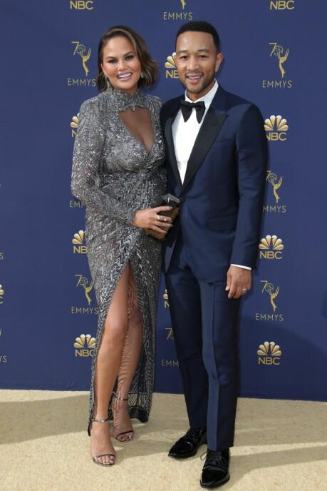 FEIRET: John Legend og kona Chrissy Teigen. FOTO: NTB Scanpix