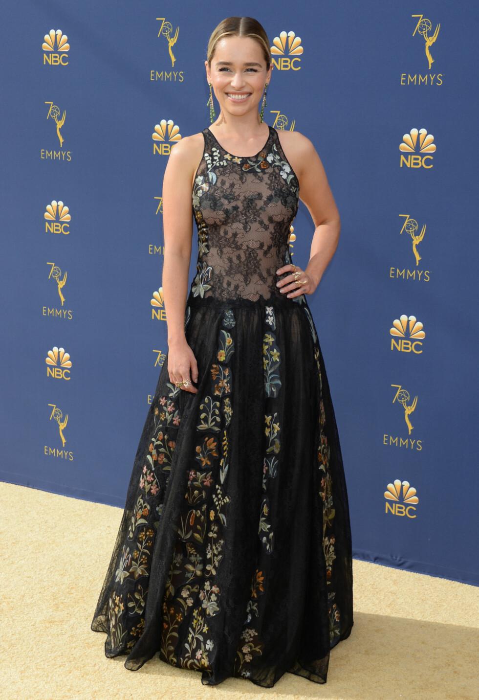FLOTT: Game of Thrones-skuespiller Emilia Clarke. FOTO: NTB Scanpix