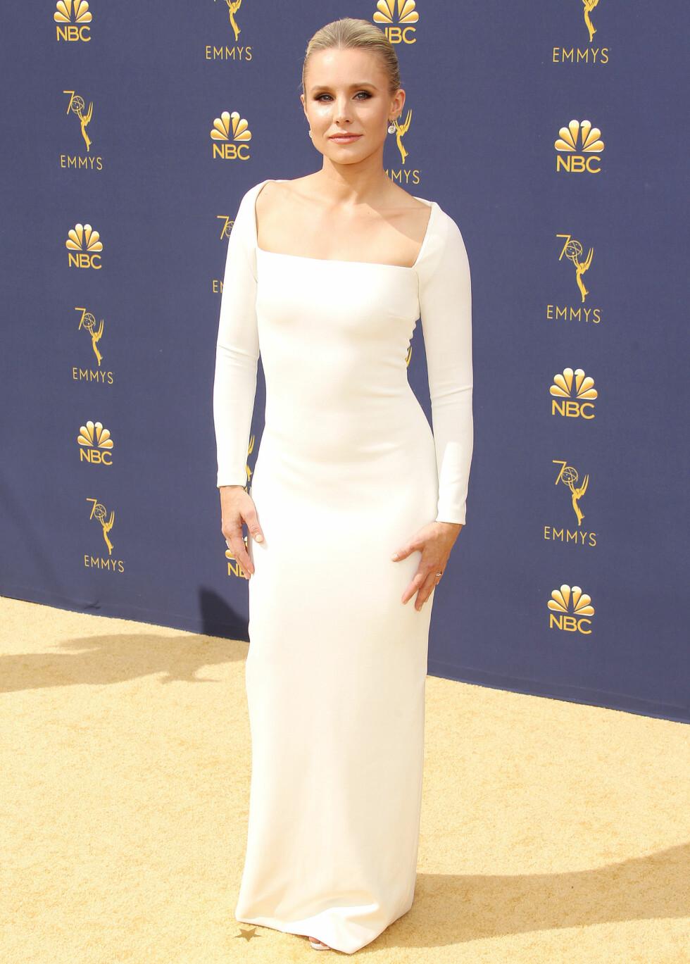 HEIT I HVITT: Skuespiller Kristen Bell. FOTO: NTB Scanpix