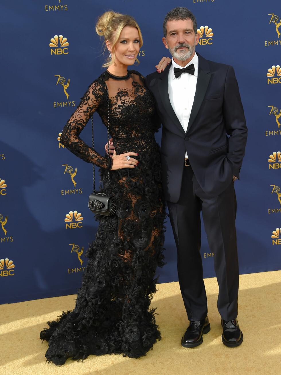 MATCHET: Antonio Banderas og kjæresten Nicole Kimpe. FOTO: NTB Scanpix