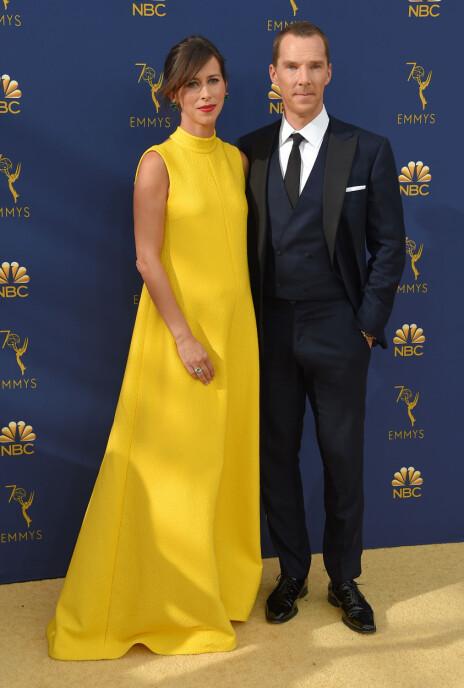 BABYMAGE: Skuespiller Benedict Cumberbatch og kona Sophie Hunter venter baby nummer tre. FOTO: NTB Scanpix