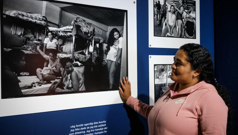 """""""BARNEMORDERE"""": Flere av Maria Teresas medfanger sitter fremdeles i fengsel for abort. - Vi ble kalt barnemordere. Men jeg holdt hodet hevet, jeg visste at det ikke var sant. FOTO: Johannes Granseth/Nobels Fredssenter"""