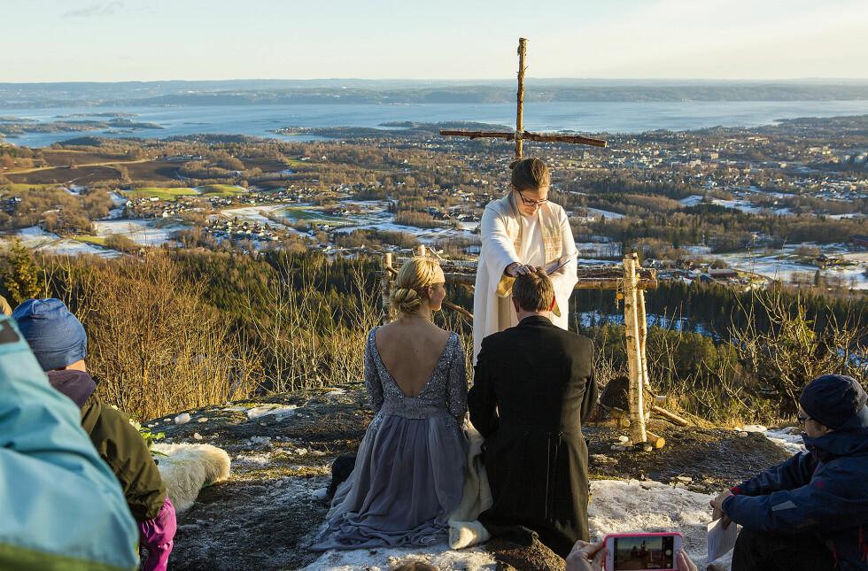 GIFT: Grethe og Jan-Sigurd giftet seg 26. november 2016. FOTO: Mats Andreassen Grimsæth