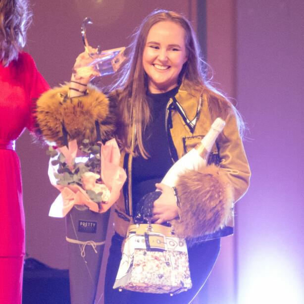 ÅRETS DESIGNER: I vinter ble Edda Gimnes kåret til årets designer under Costume Awards. Foto: Audun Braastad / NTB scanpix