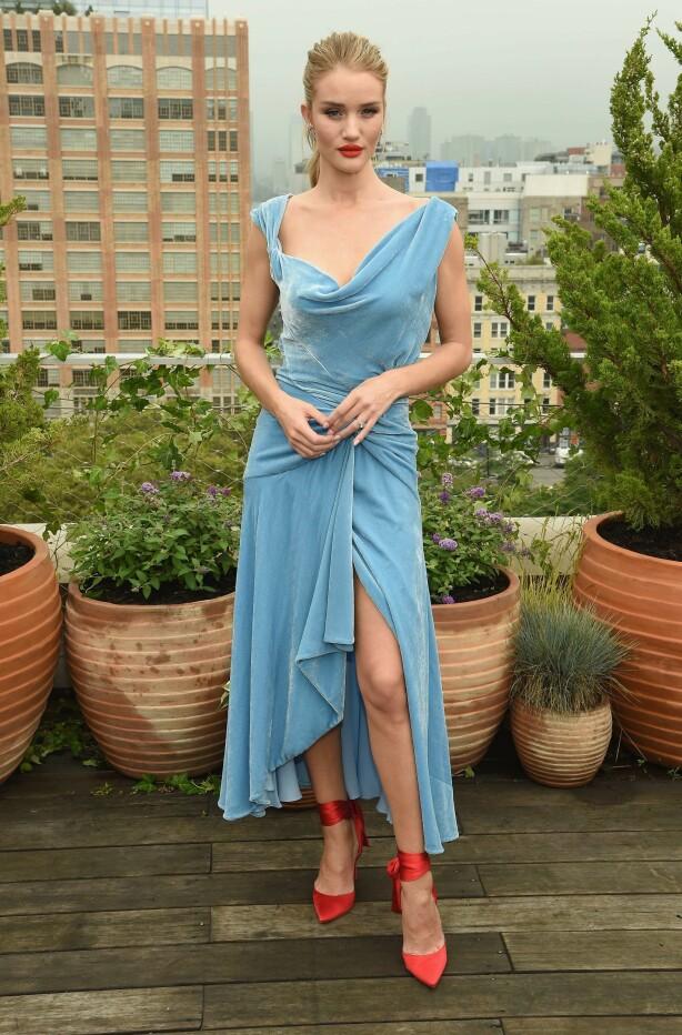 <strong>FLOTT:</strong> Rosie foretrekker en elegant look. Foto: Scanpix