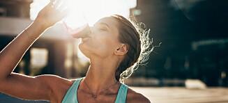 Drikker du sportsdrikker på trening?