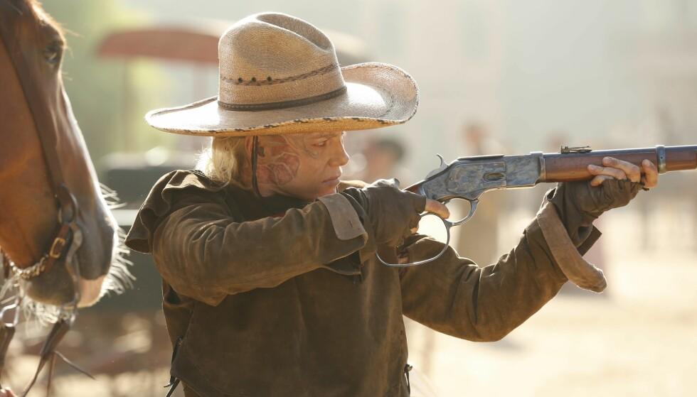 <strong>SUKSESS:</strong> Ingrid Bolsø Berdal spiller rollen som den fryktløse banditten Armistice i den populære HBO-serien Westworld. FOTO: HBO