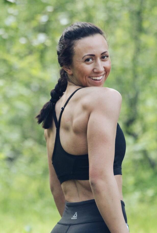 SUNN OG STERK: Shanice bruker trening som medisin. Til tross for at hun sliter med fatigue, klarer hun å hente overskudd fra treningen. FOTO: Privat