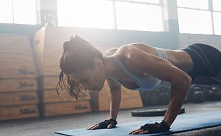 Slik trener du for å klare push-ups