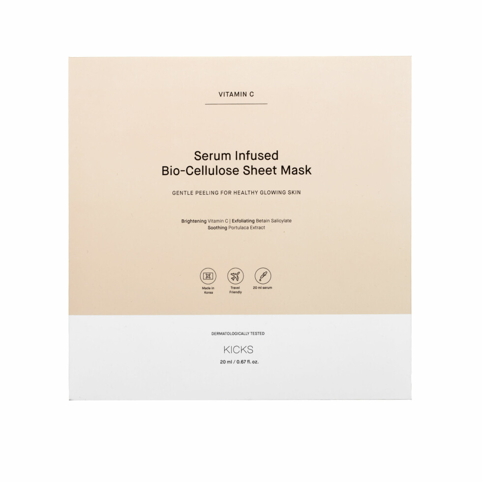 2. Lysner og eksfolierer huden (kr 60, All About Mee, Luxury Bio-Cellulose Pink Pearl Exfoliate).